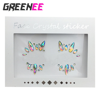 Mermaid Face Gems Rhinestone Tattoo Jewels Eyes Face Body Temporary Sticker  For Festival Party - Buy Face Tattoo Sticker,Tattoo Sticker,Temporary