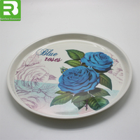 2018 Best selling printed Custom melamine plate, melamine serving tray made in china