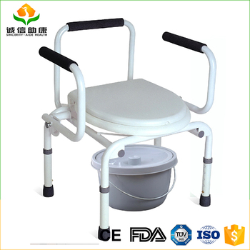 Made In China Cheap Price Parts Of Steel Commode Chair For Elderly