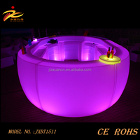 Beautiful plastic color changing led outdoor furniture/led counter table from China