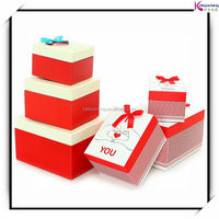Practical professional clear plastic cube gift boxes packaging