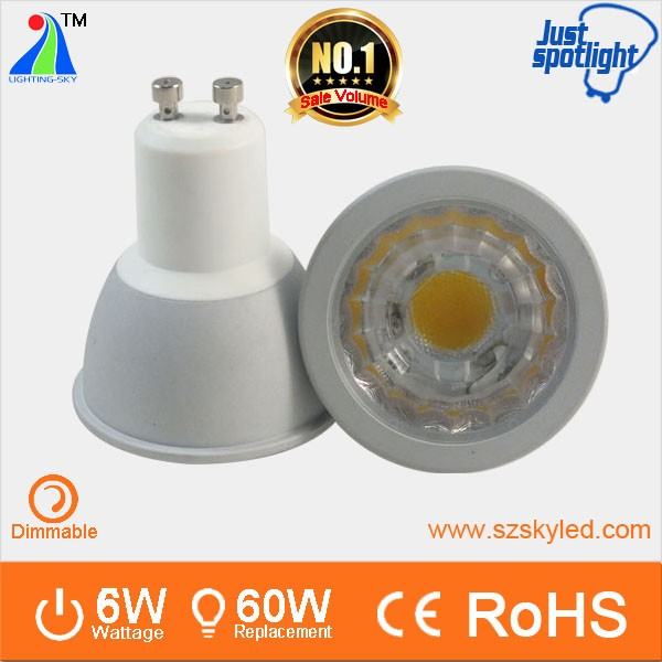 4000k dimmable gu10 led 6w bulb lamp alu cob new spotlighting gu10 spot 220v gu5.3 mr16 e27 e14 gu10 6w cob led <strong>spotlight</strong>