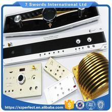 Clear anodized aluminum faceplate/natural oxidation audio panel