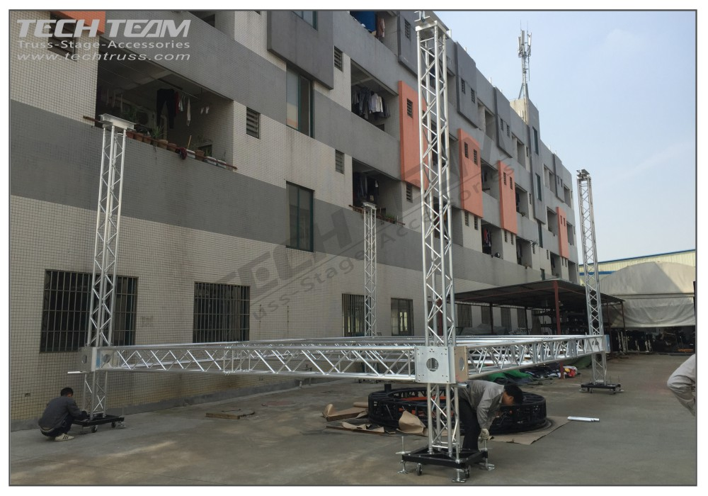Outdoor concert lighting truss and aluminum stage truss roof system for sale