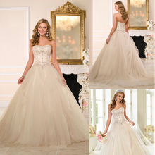 WD7587 Ball gown turkish wedding dress designers embroidered tulle overlay lace gothic wedding dresses