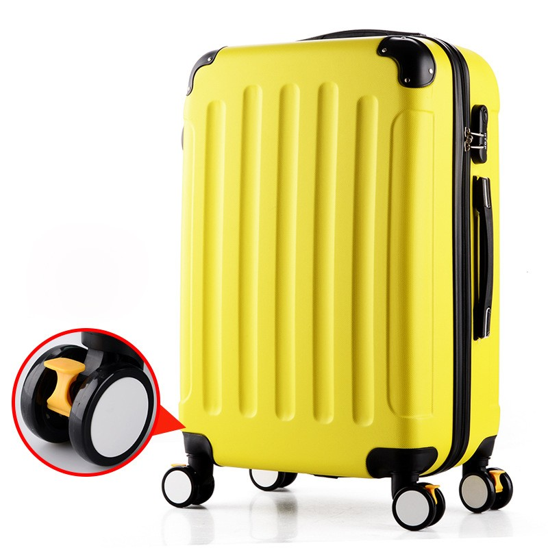 Imported <strong>ABS</strong> 20''24''28'' name brand metal case airport travel design luggage with brake