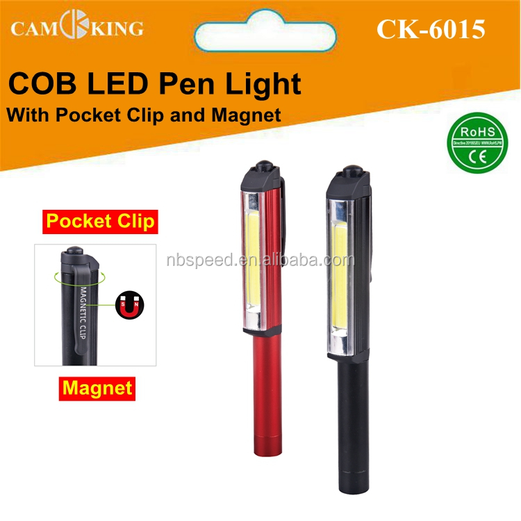 COB LED Pen Light with Pocket Clip,Mini LED Pen working light with Magnet