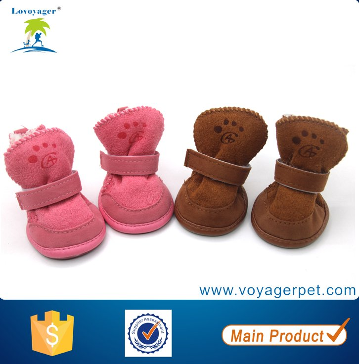 Lovoyager Lovely Warm Lamb Wool Boot Dog Shoes Winter Soft Pet Footwear
