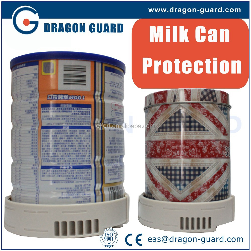 EAS new product milk can safer/ milk powder security tags/Magnetic Alarming 2-Tone Baby Formula Wrap