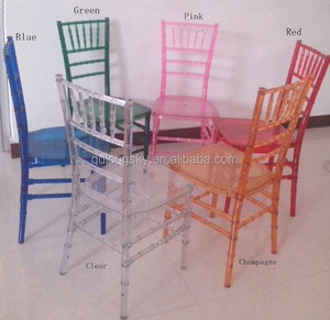 wood and clear resin Chiavari Chair and resin napoleon chair