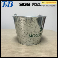 galvanized outdoor champagne ice bucket with stand