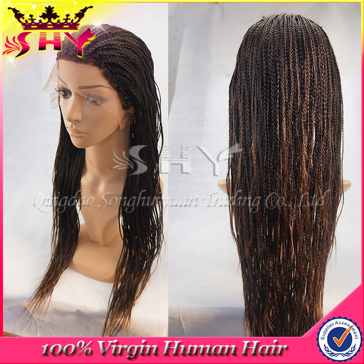 2015 new arrival brazilian human hair braided wigs for black women ... 012965a0c