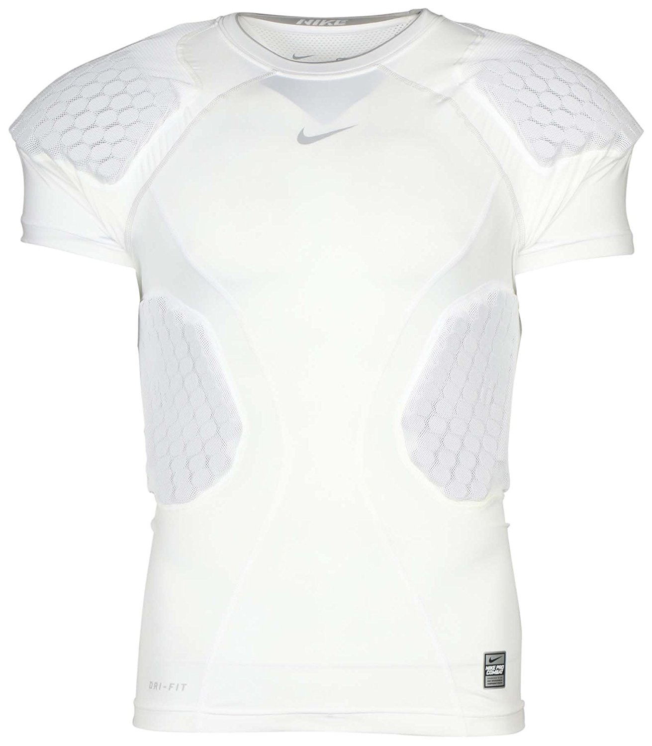 ba7cfaa6 Get Quotations · Nike Men's Dri-Fit Compression Hyperstrong Padded Training  Top-White