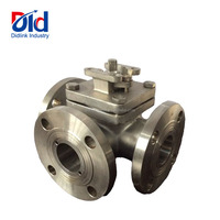 Stainless Steel JIS 3 Way Flanged Electric Or Pneumatic Automatic Operated bsp Threaded Sanitary Ball Valves