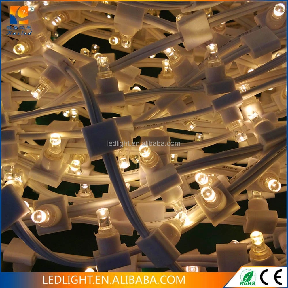 white color LED string light and bulb can be changeable retractable christmas light