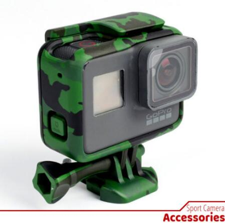 Protective Housing Case for GoPro Hero 5 Outdoor Camouflage Standard Border Frame for Go Pro Hero 5