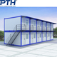 Low cost Prefab container office, container house with two floor