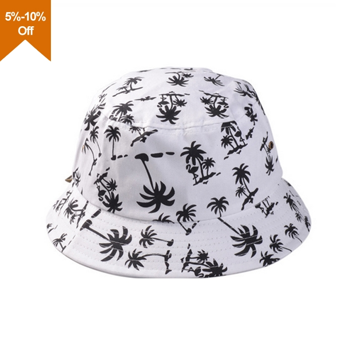 High quality plain white blank cotton bucket hat
