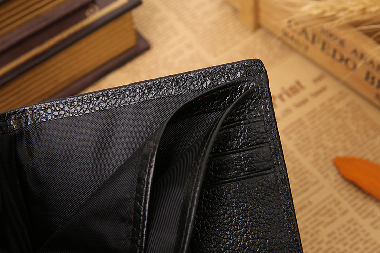 JINBAOLAI fashion business male money clips credit card holder crocodile head pattern men's genuine leather wallet