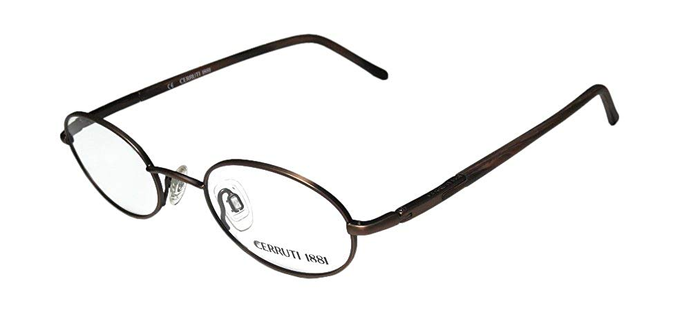 3331d30527 Get Quotations · Cerruti 1881 C5226 Mens Womens Oval Full-rim Hip With  Silicone Nosepads Eyeglasses