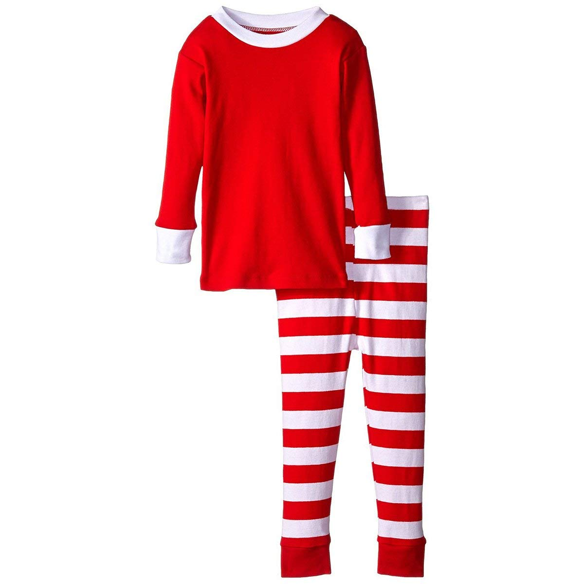 3ddc44f065 Get Quotations · LAPAYA Boy s Holiday Pajamas Two Piece Christmas Cotton  2-7 Years Toddler Pj Set