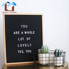 Environmental Wooden Black Changeable Felt Letter Board