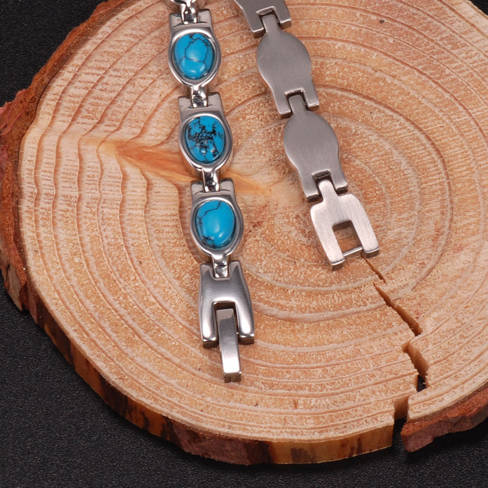 Innovative Stainless Steel Turquoise Beads Inlay Bracelet Mexico Jewelry  Manufacturers - Buy Turquoise Bracelet,Stainless Steel Bracelet,Stainless