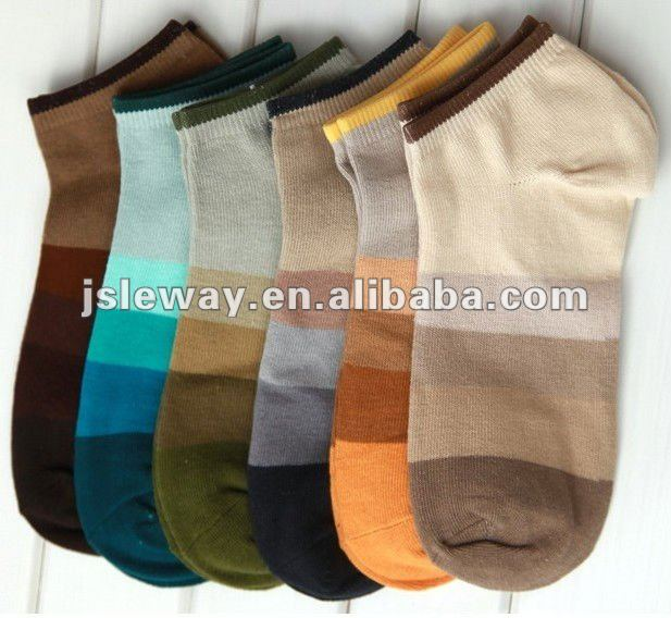 man cotton colorful ankle socks