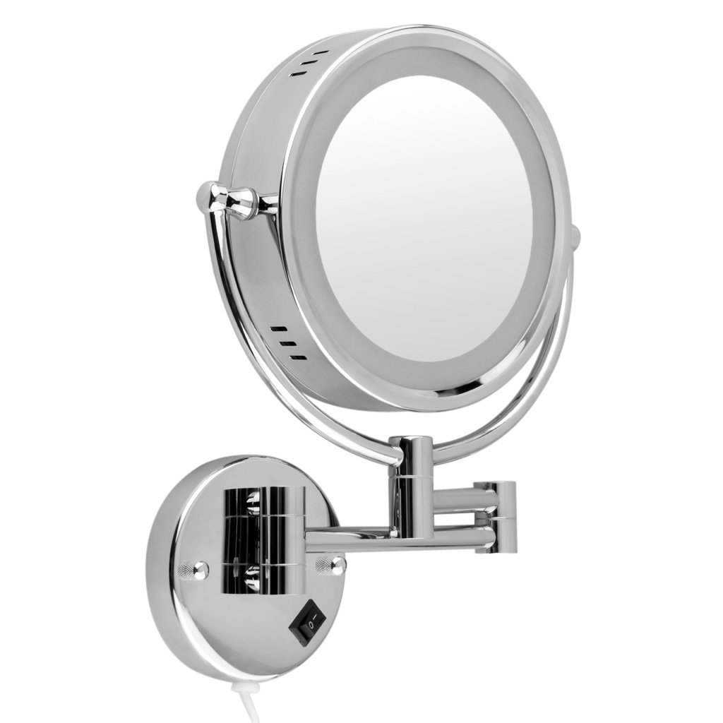 Get Quotations Floureon Wall Mounted 8 5 Inch Double Sided Cosmetic Make Up Shaving Led Lighted Bathroom Mirror 10x