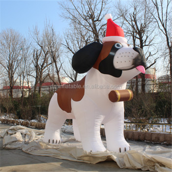 hot sale inflatable husky dogpvc promotional inflatable doghusky for christmas decoration