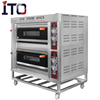 Stainless steel kitchen equipment gas bread oven,industrial double deck oven