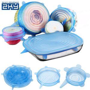 Multi-size LFGB Silicone Stretch Fresh Cover,Silicone Stretch Sealing Lids Food Fresh Cover for Fruit Bowl