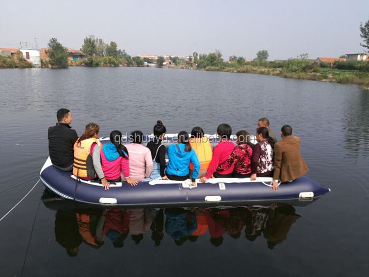 5 persons 1.2mm korea pvc CE military inflatable fishing boat