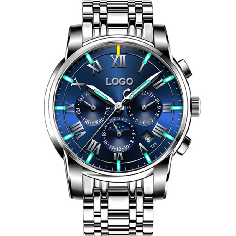 Alibaba.com / Customize your own brand 2018 luxury men automatic mechanical tritium gas luminous multifunction watches