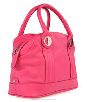 Fashion ladies embossed genuine cow leather handbags ---professional factory of bag