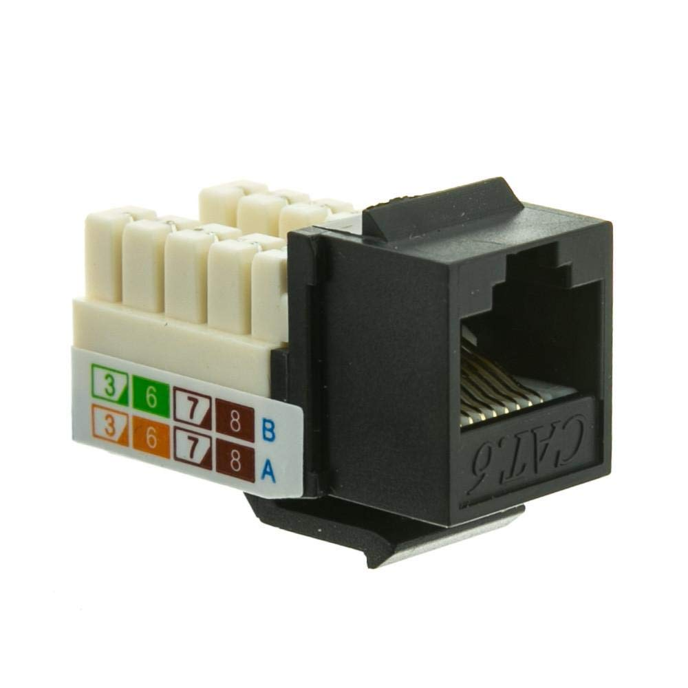 Ivory Color 10 Pack Cat5e Punch Down Keystone Jack Orange Color with 1port Rj 45 Keystone Wall Plate Vastercable