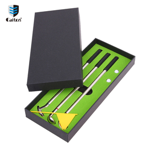 Manufacturer supplier promotional gifts office mini golf pen golf club set