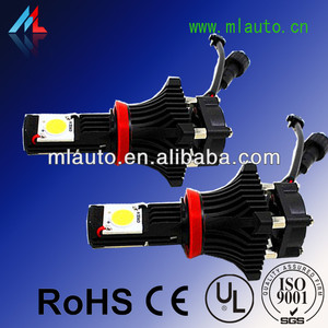 Milan led headlight h8/h9/h11 The best 48W 3600lm H8 led headlight in china 12v-24v 1800lm led headlight