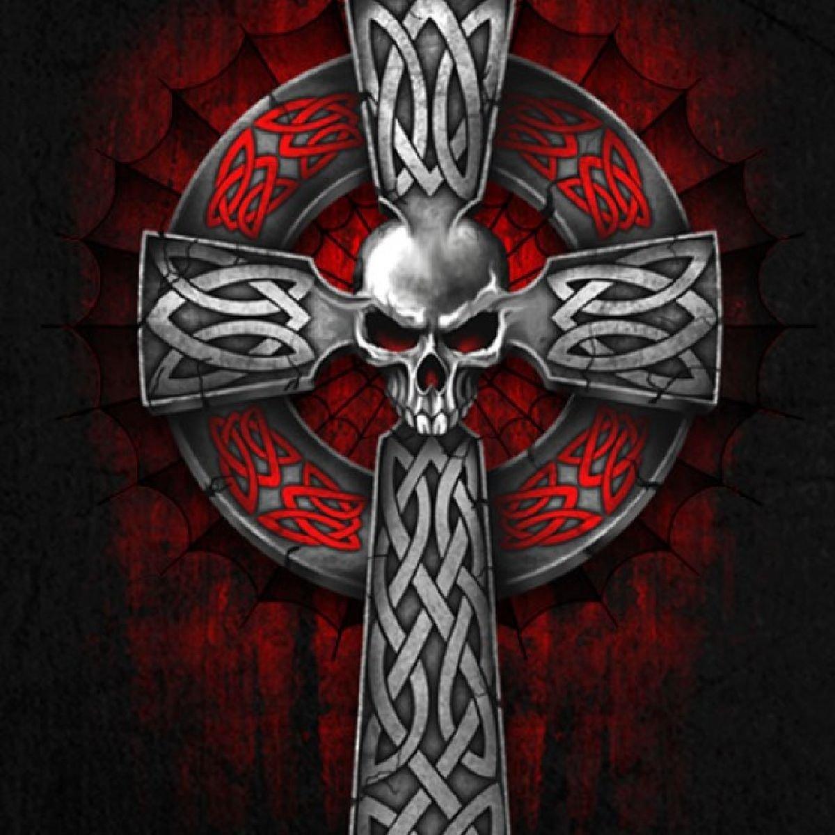 картинки крест черепа