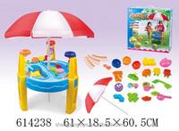 Colorful plastic sand mold beach play set toy sand beach table set toys