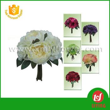 H27cm hot sales wedding decoration flowers silk flower bouquet of h27cm hot sales wedding decoration flowers silk flower bouquet of wedding bouquet 4 peonies mightylinksfo