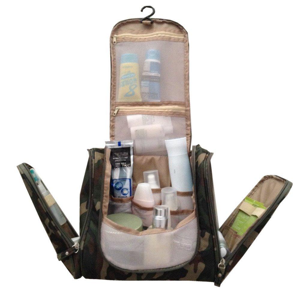SunKni Portable Toiletry Bag Wash Bag Bathroom Hanging Bag Travel Bag  Storage Bag Drawer Dividers Cosmetic ea712ce33717f