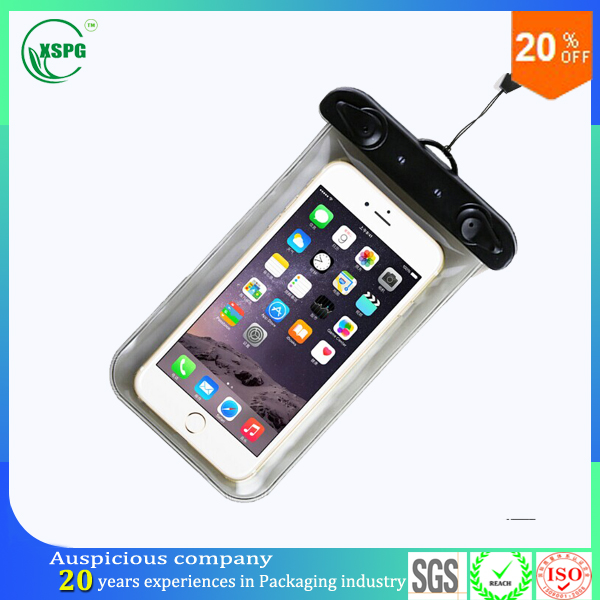 Useful and fashional transparent waterproof cell phone bag