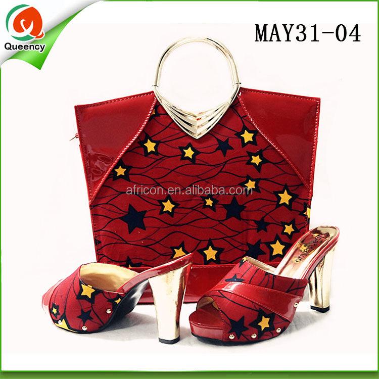 to dress women fabric african bag match wax shoes women high printed clutch shoes heel italian and wRzYxR6Crq