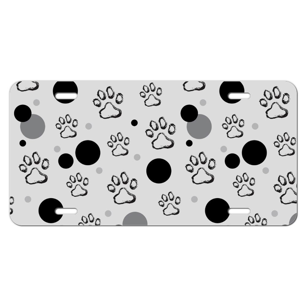 Colorful Paw Print License Plate Frame Motif - Picture Frame Ideas ...