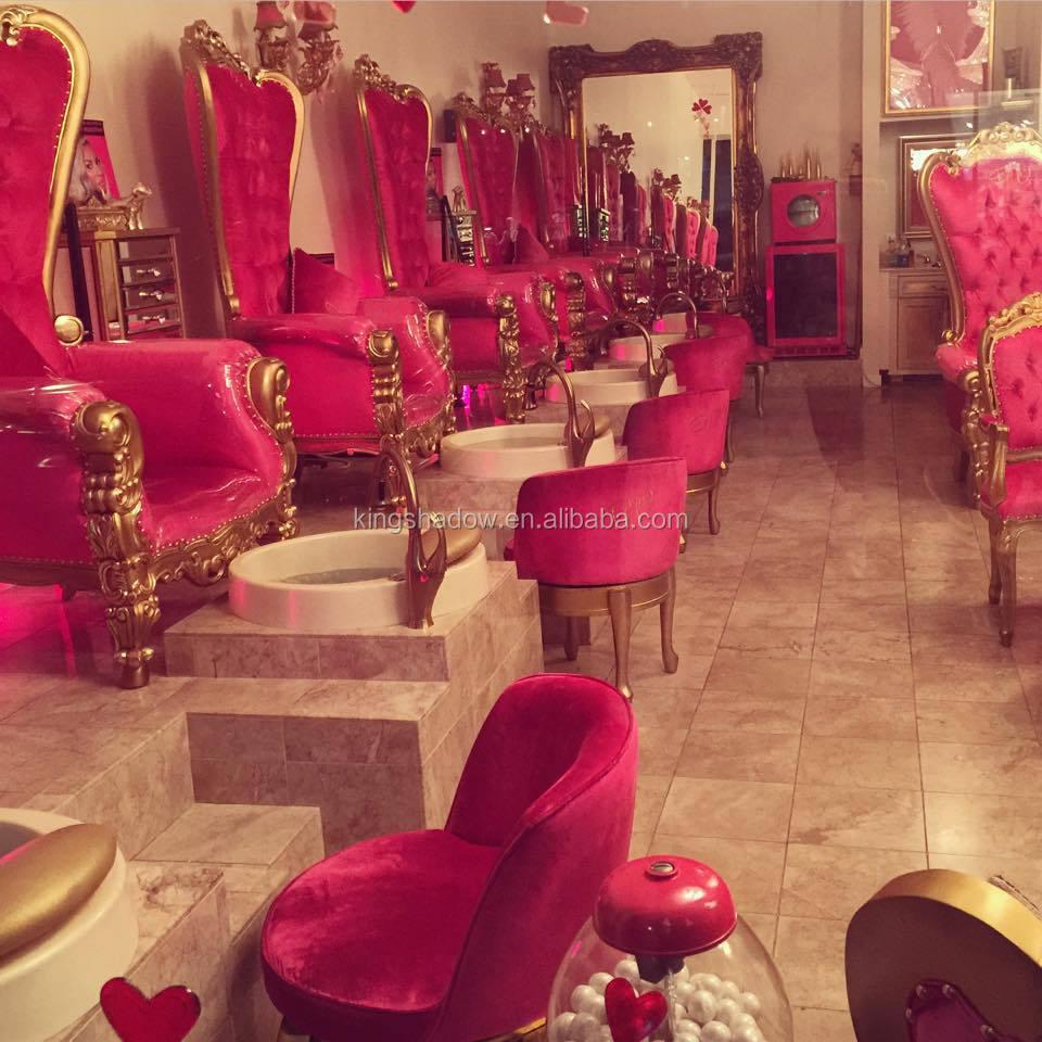 2017 Mulher De Luxo Unhas Pintadas Cadeiras Do Salão De