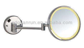 Ultrathin Magnifying Hotel Bathroom Makeup Mirror With LED Light HL830LED