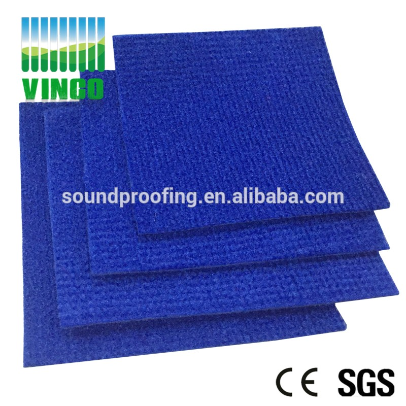 Black fireproof  NRC 0.8 eco-friendly construction convenient  acoustic wall carpet for studio