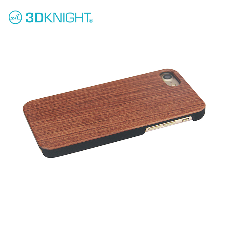3D Knight Factory Wholesale OEM ODM Custom Hard Back Real Rosewood Wooden Mobile Phone Cover for iPhone 8 Wood Bamboo Case