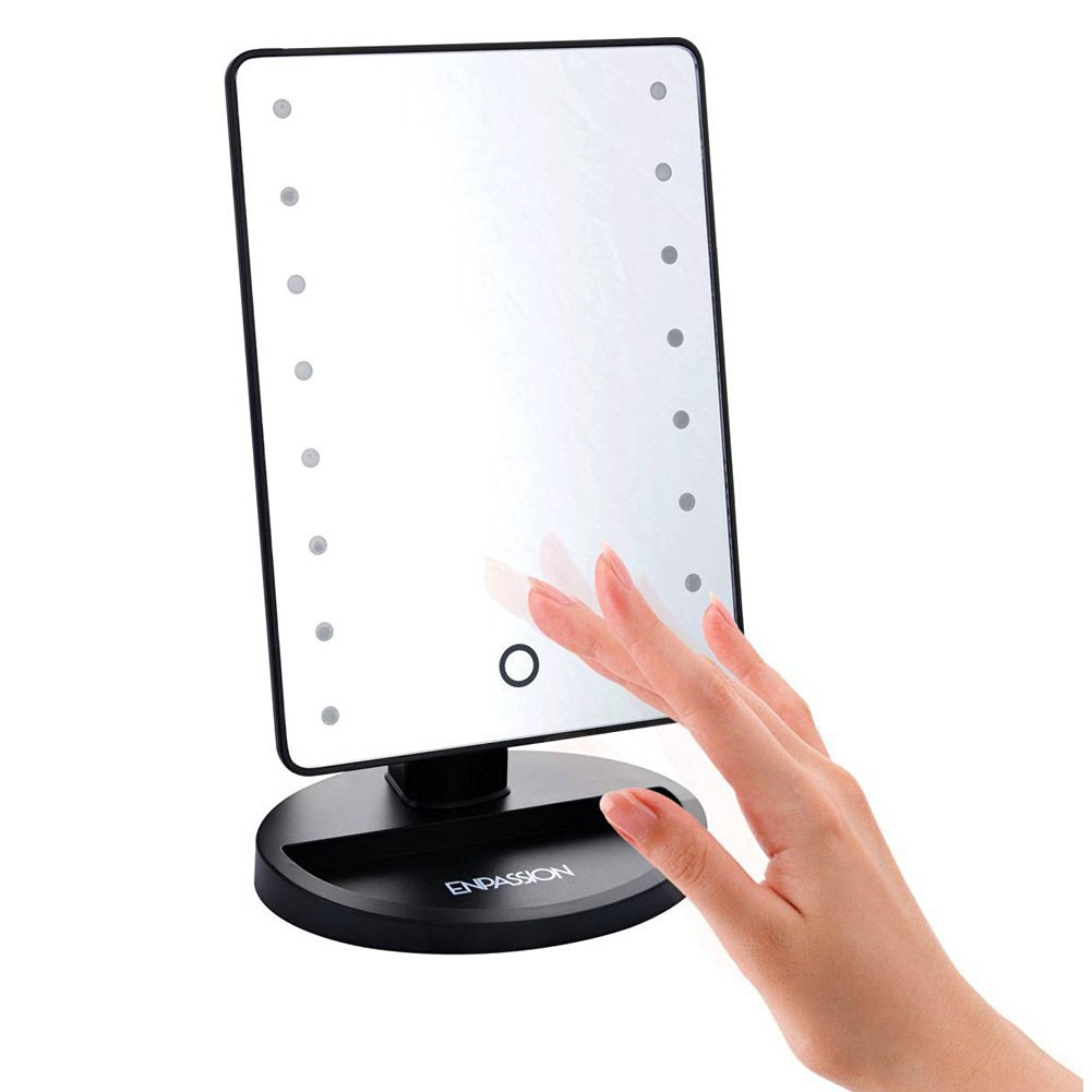 Get Quotations · 16 LED Makeup Mirror With Lights And Tray   Hollywood  Backstage Portable Tabletop Vanity Mirror (